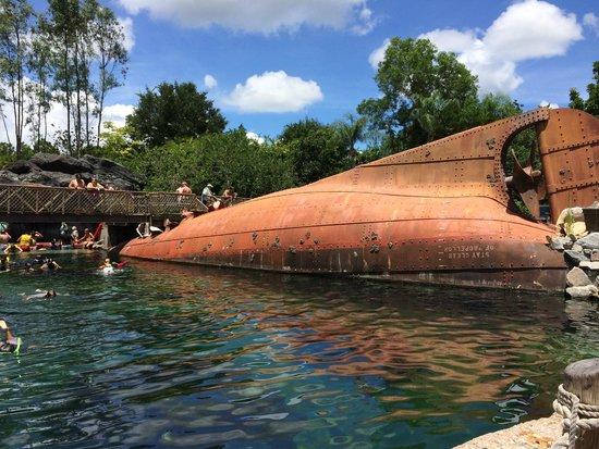 Disney's Typhoon Lagoon Water Park: Shark Reef swim