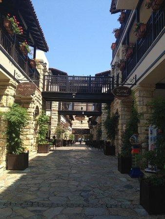 Paloma Grida Resort & Spa: Центральная улочка от входа до моря через магазины и рестораны
