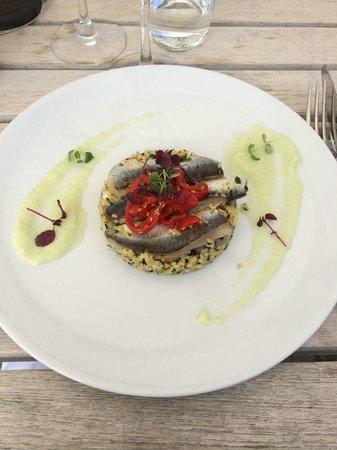 Restaurant La Co(o)rniche : sardien en entrée