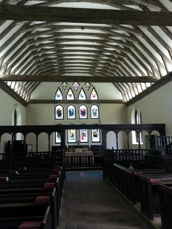Historic St. Luke's Church: gothic church with German stained glass windows installed in 1890