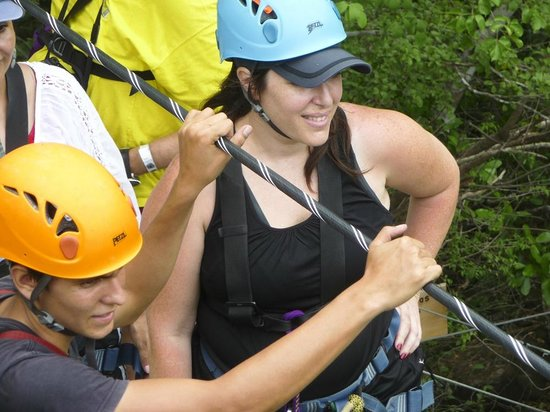 Rio Perdido: Gabby ready to jump on the canopy