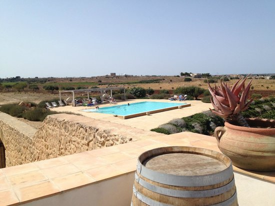 Baglio Donna Franca : The pool from the terrace