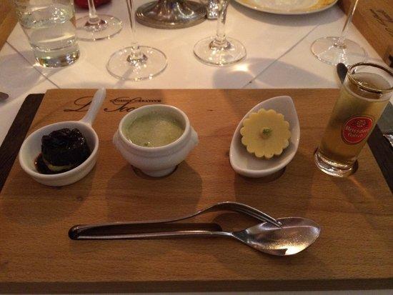 La Societe: Amuse-bouche : reinterpretation of traditional regional dishes