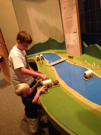 National Historic Trails Interpretive Center: getting the wagons across the river