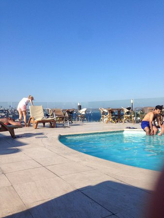 Orka Royal Hotel: View from the rooftop by the pool