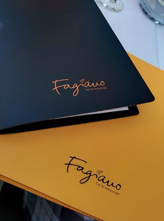 Gios' Fagiano Bar & Restaurant: The wine card and the menu