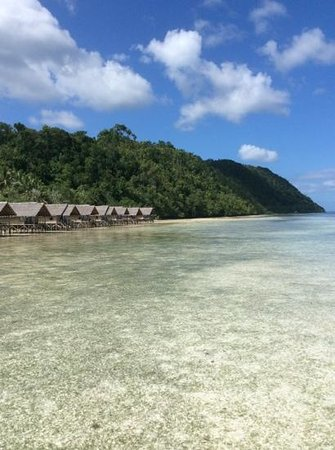 Papua Explorers Resort : View of our rooms