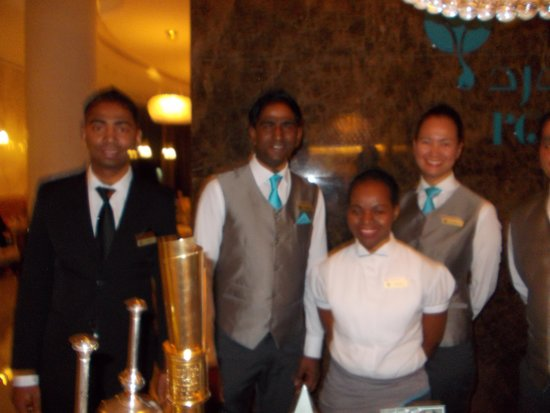Jumeirah at Etihad Towers: some of the great rosewater staff