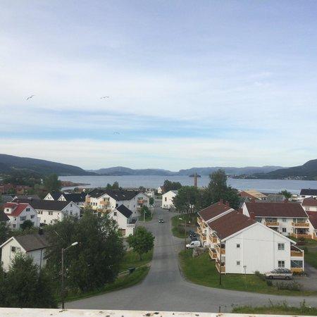 Hemne Hotell: Utsikt over Kyrksæterøra