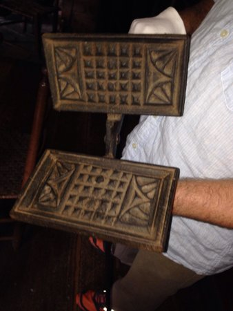 Vance Birthplace: The 18 Century waffle maker