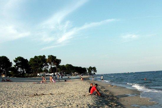 Marina d'Erba Rossa : plage août 2014