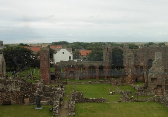 Lindisfarne Priory: view over the priory