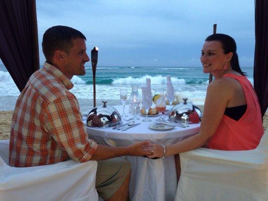 Excellence Punta Cana: Dinner on the beach!