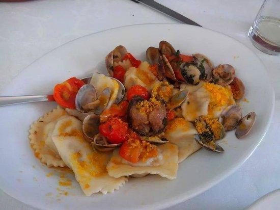 Muravera, Italy: i ravioli di pesce