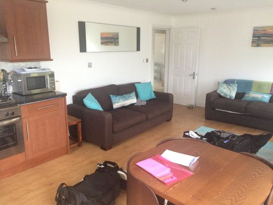 Beachcombers Apartments : Living area. (There is a TV just not in frame :)