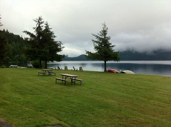 Log cabin resort prices campground reviews olympic for Log cabin resort lago crescent wa