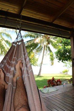 Chambre d'hotes Temehani : la terrasse individuelle