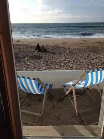 Tolcarne Beach Apartments: View from our cabin