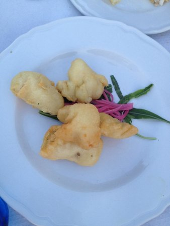Trabucco di Monte Pucci: Bocconcini di rana pescatrice in pastella