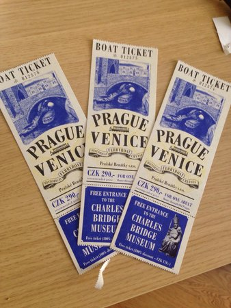 Prague Venice Boat Trip : Tickets