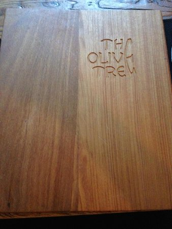 The Olive Tree: Menu cover