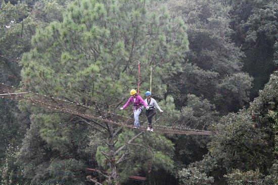 Cascadas Quetzalapan: Puente colgante