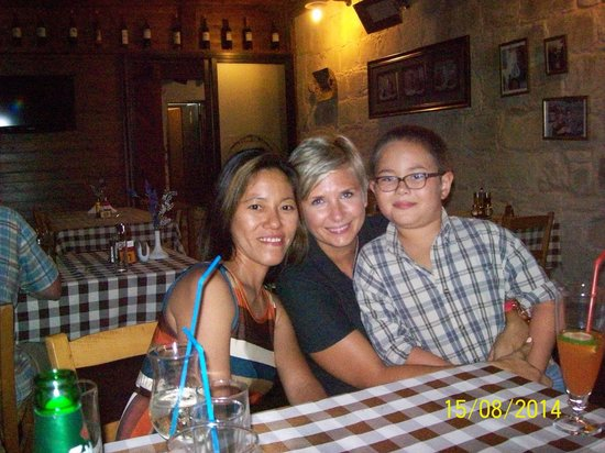 Letymbou Tavern: Me,my son and Anita