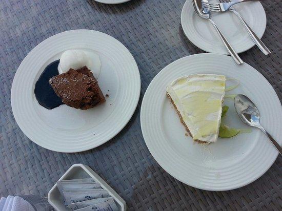Vipingo Ridge : Lime cheese cake and chocolate brownie