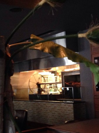 Michael Symon's Roast: The Roast kitchen as viewed from the main kitchen.