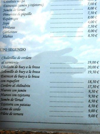 Ujue, สเปน: Parte de la carta