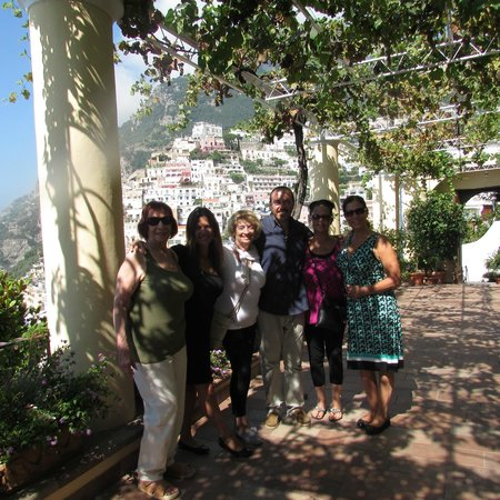 Hotel - Albergo California Positano : All of us with John on our last day.