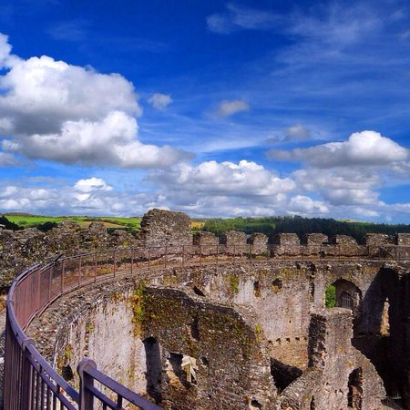 Restormel Castle: Great Views - Photo by Nigel Moran