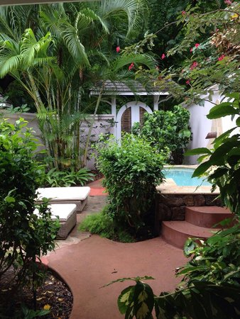 Sugar Beach, A Viceroy Resort: Our back garden (Sugar Mill room)