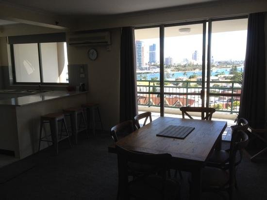 The Meriton on Main Beach: a lovely place to eat and look at the views