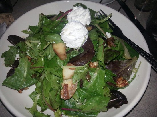 The Paramount: Grilled pear and fresh goat cheese salad with glazed walnuts.