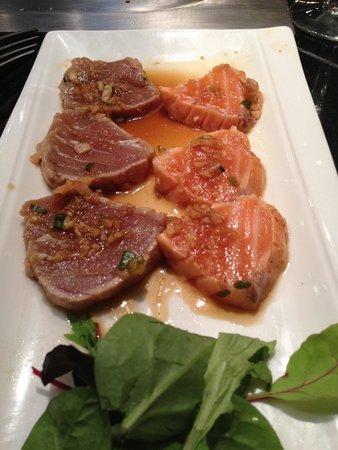 Chez Hanafousa : Tataki de saumon et thon