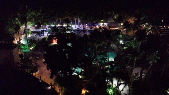 InterContinental San Juan: View of pool area at night from 12th floor