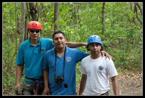 The Congo Trail Canopy Tour: Our tour guides and camera man (Daniel, Donald, and Rene)