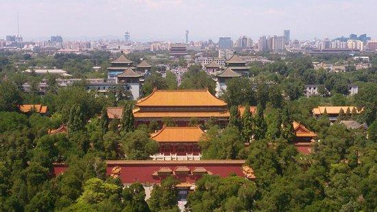 Jingshan Park (Jingshan Gongyuan): View from Jingshan Park to north