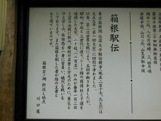 Hakone Ekiden Museum: 駅伝歴史