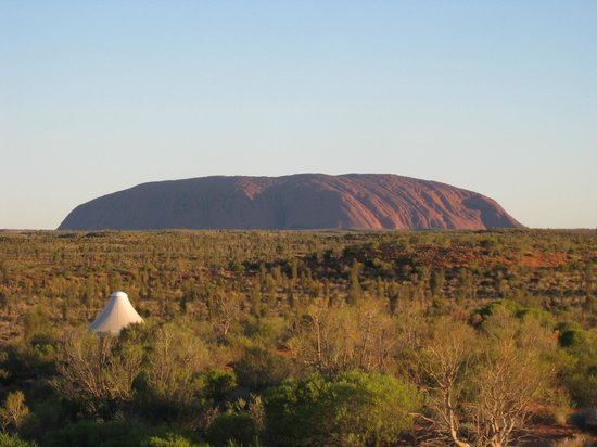 Longitude 131 : Our room and the view of the Rock (Uluru)