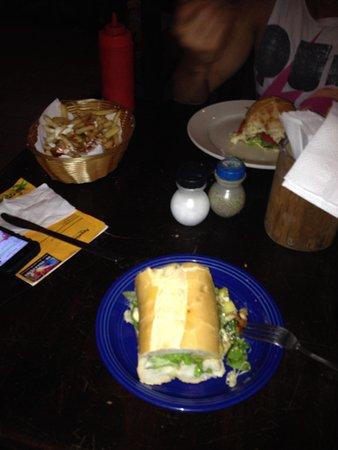 Tortilla Flats: Chicken and pineaple sandwich