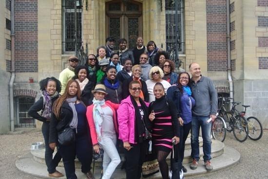Ricki Stevenson's Black Paris Tours: outside of Josphine Bakers Home Le Vesinet