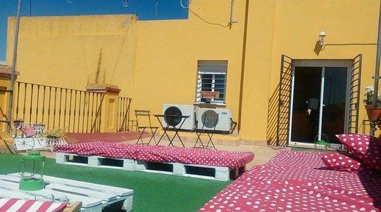 La Flamenka Hostel: Terraza aconchegante