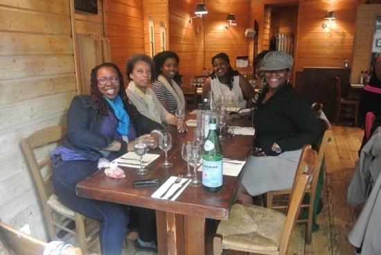Ricki Stevenson's Black Paris Tours: Lunch after the tour.