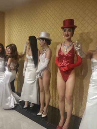 Calypso Cabaret: Ladyboys in a lineup after the show