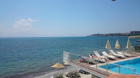 Hotel Grand Ozcelik: Вид на море