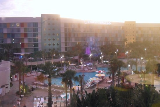 Universal S Cabana Bay Beach Resort View From Poolside Room On 4th Floor