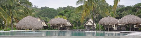 Playa Venao Hotel Resort: View of cabins from pool deck