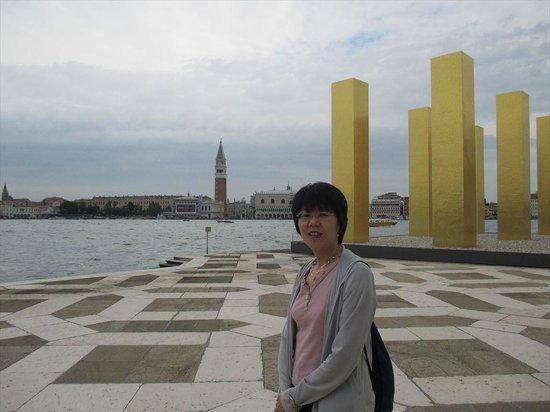 San Giorgio Maggiore: 島からサン・マルコ広場を